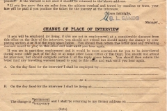 Florence Farley, after returning to the Bartons in 1940 to start work in the Mill Lane shop, applies for war work.