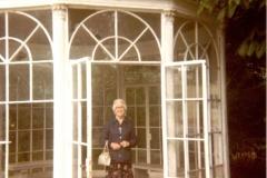 Kathleen Brown - standing in hot house, Sound of Music - Salisbury?