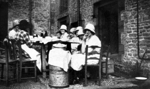 c. 1930 Tea Party at Barton Abbey, possibly at a fete.