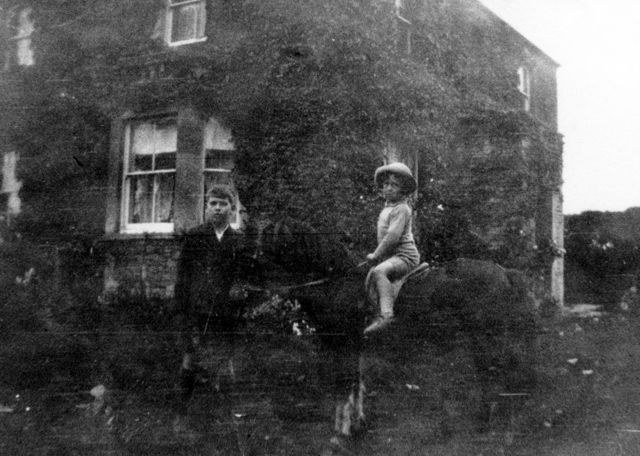 1930s Sidney Howe and Percy Prior and a pony.