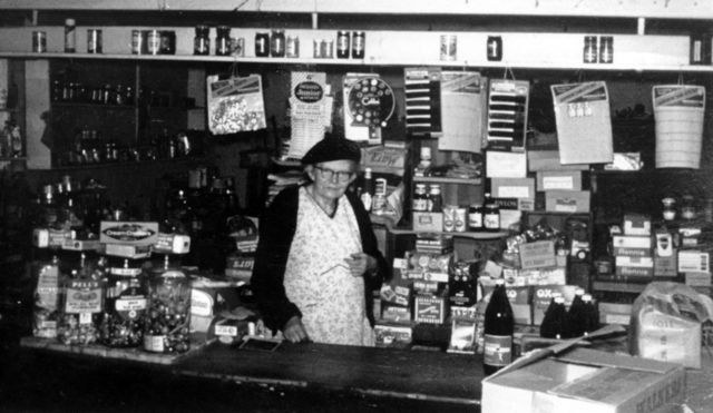 Florence Farley in her shop in Mill Lane.