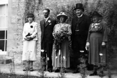 20th July 1949 Gladys Lindsay, Charles Gibbons, Winnie Gooding, Reverend William Lindsay and Julia Gooding.
