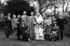 April 23 1941. Wedding of John (Jack) Thomas and Joan Cox.