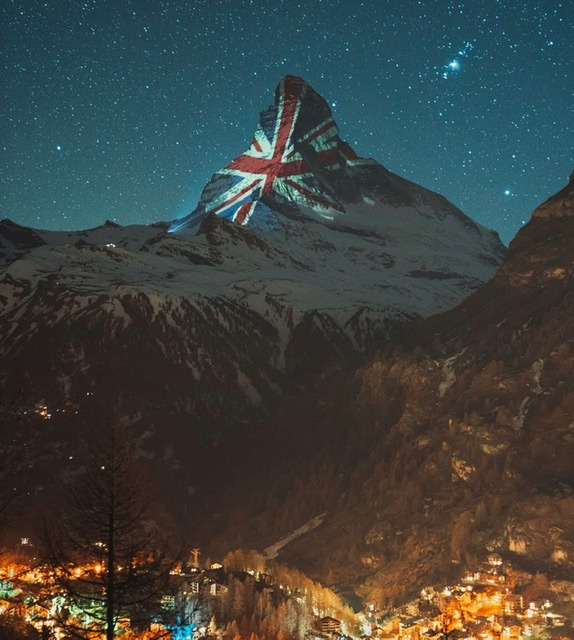 Zermatt's Tribute to the UK VE Day 2020