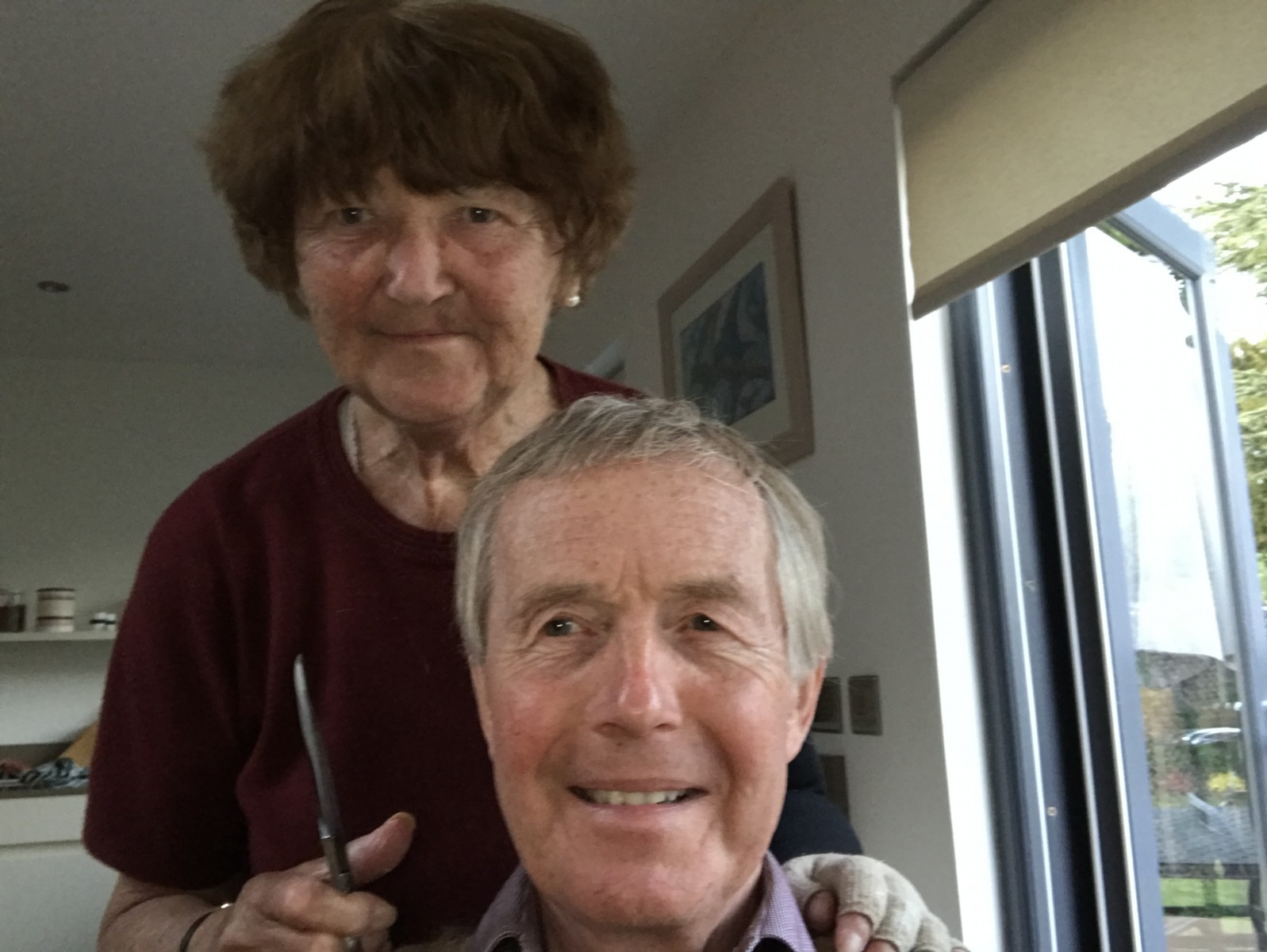 Locks off in Lockdown! David Wharton's VE Day haircut (after)