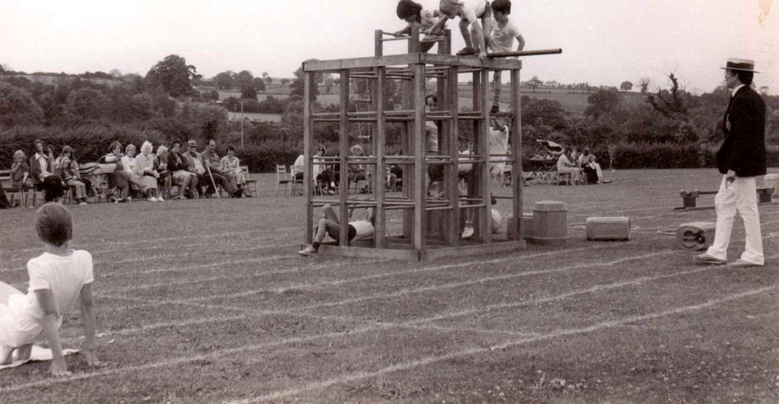 c. 1978 Gymnastics display.