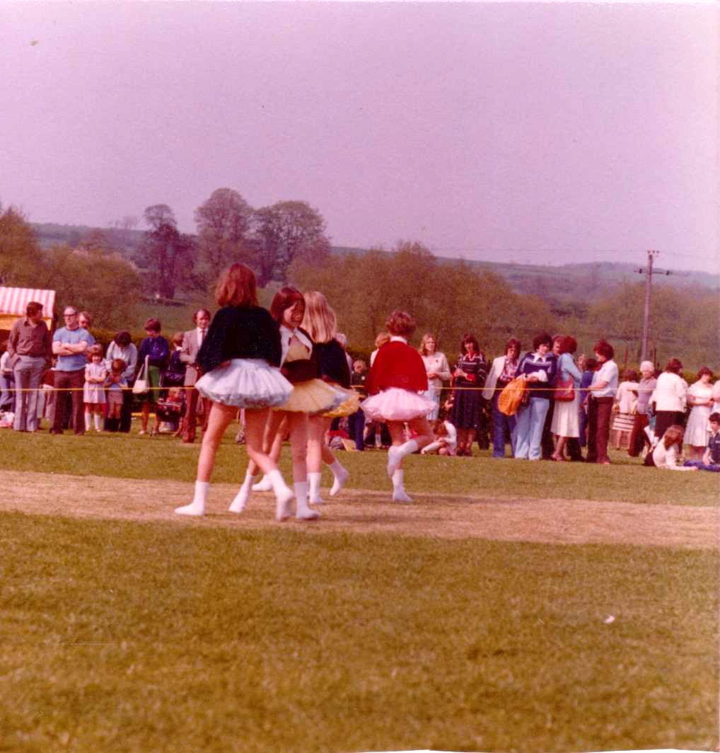 c. 1979. School Fete. Dancing display by the Middle Barton School of Dance - Anne Gross.