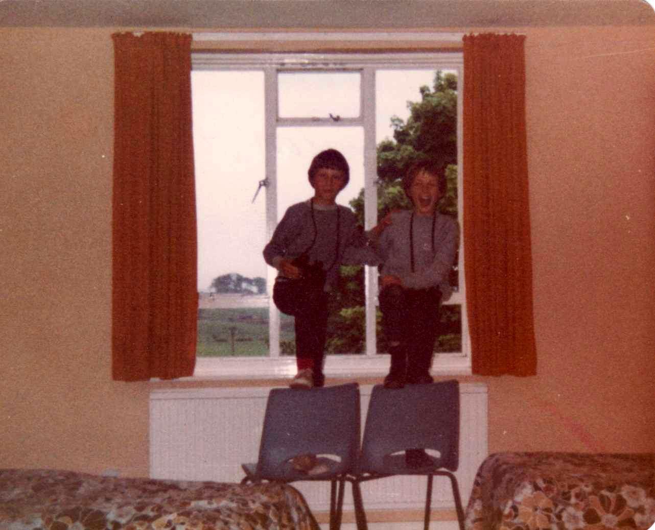 c. 1980 Barnes Close. Danny Hazell and John Stockford.