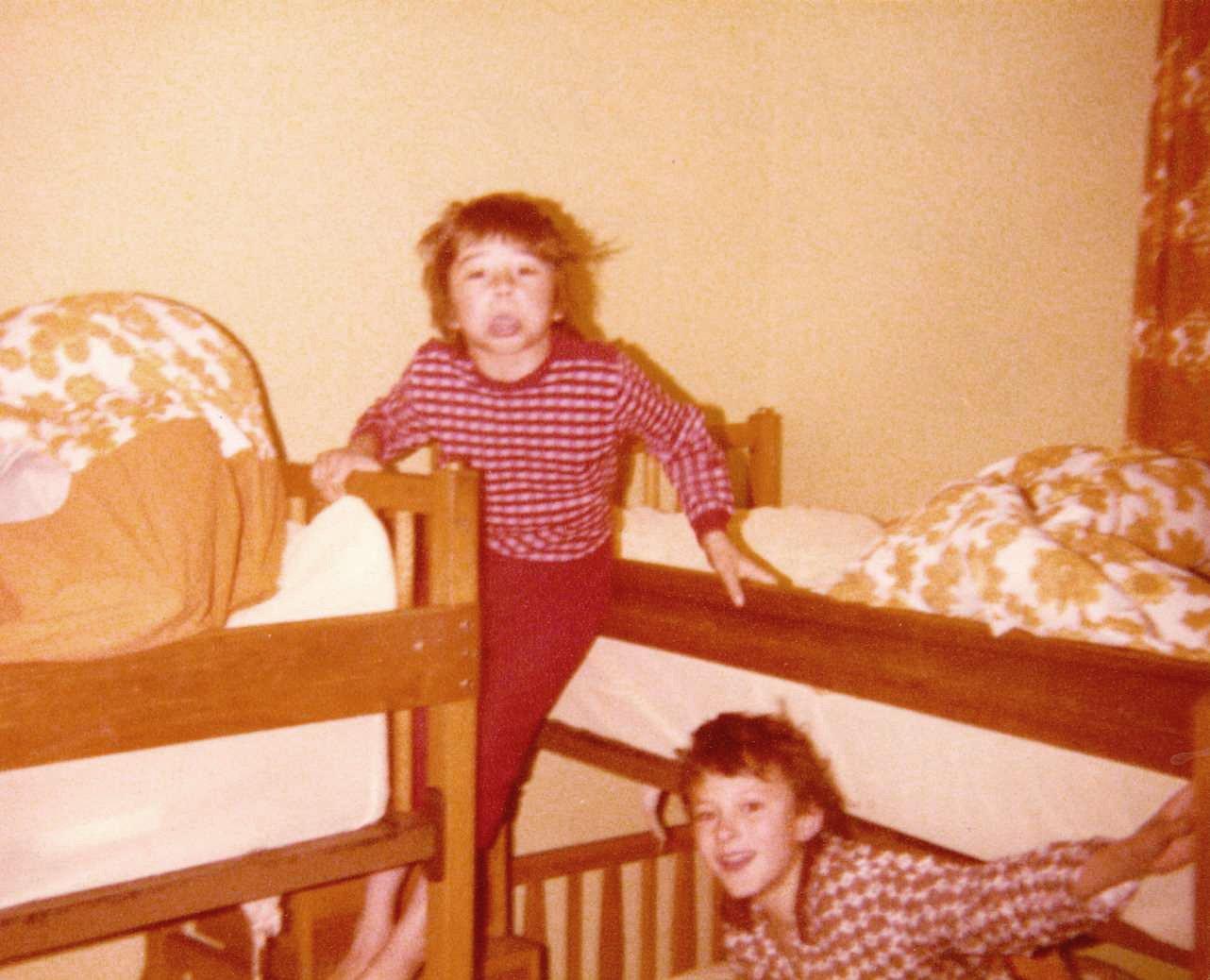 c. 1980 Barnes Close. Simon Day and Simon Coombes.