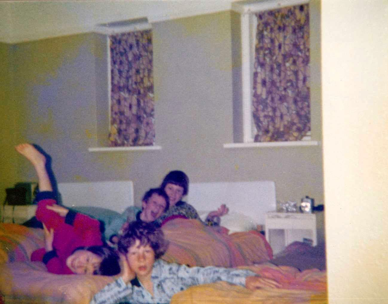 c. 1980 Barnes Close. ? Stillman, Simon Day, Nicholas Taylor and Gary Harrison.