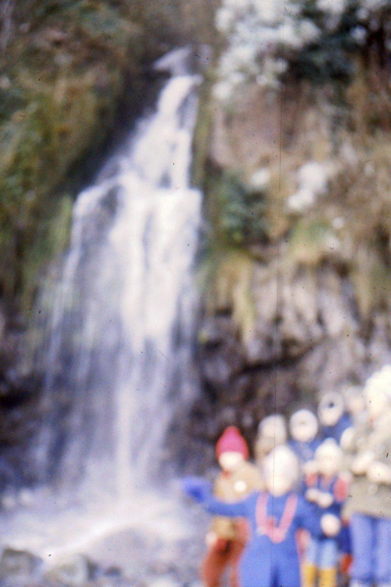 1966-69 Middle Barton School - Field trip to Yenworthy, Somerset - Waterfall.