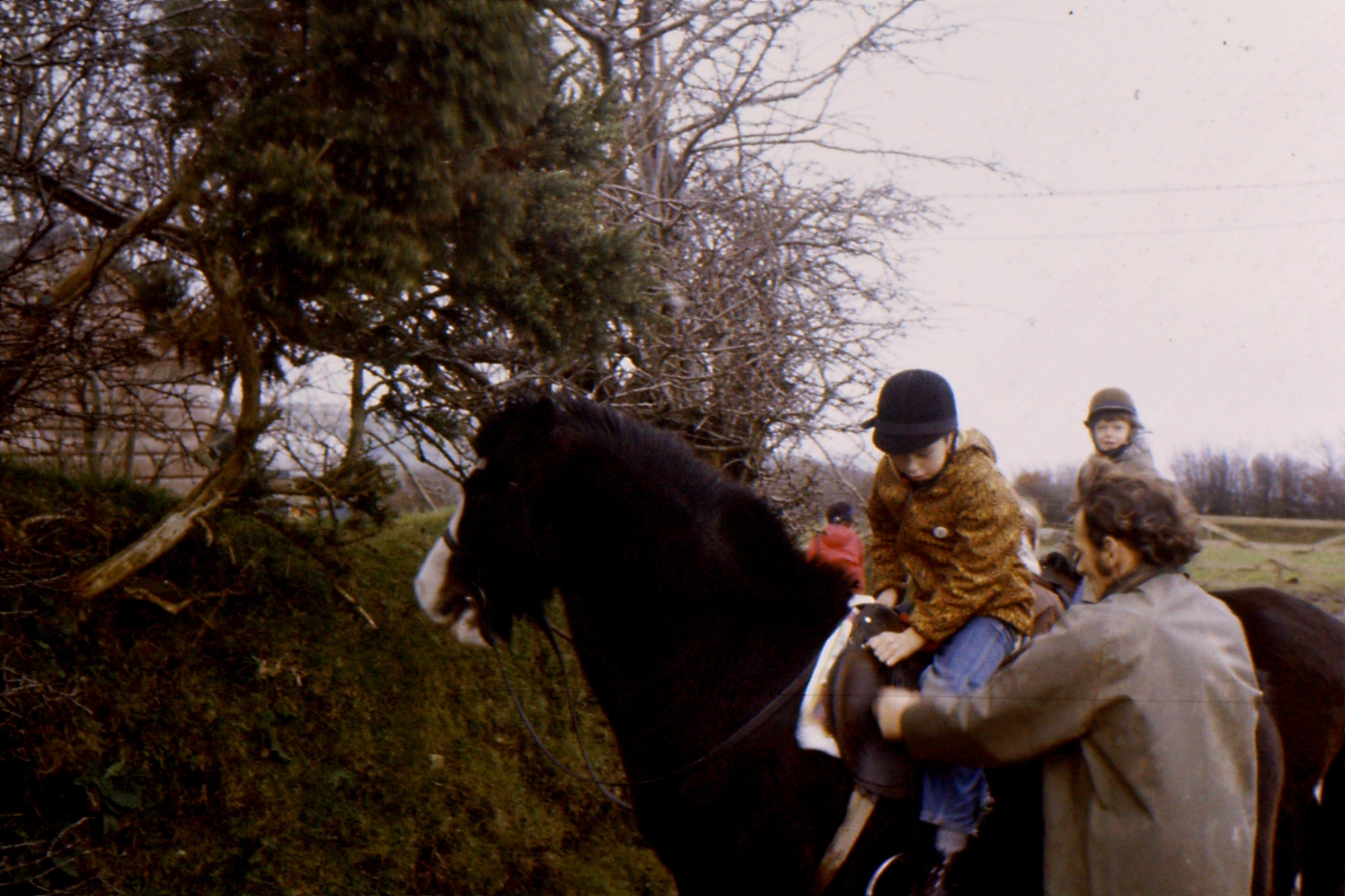 1966-69 Middle Barton School - Field trip to Yenworthy, Somerset - Pony trekking.