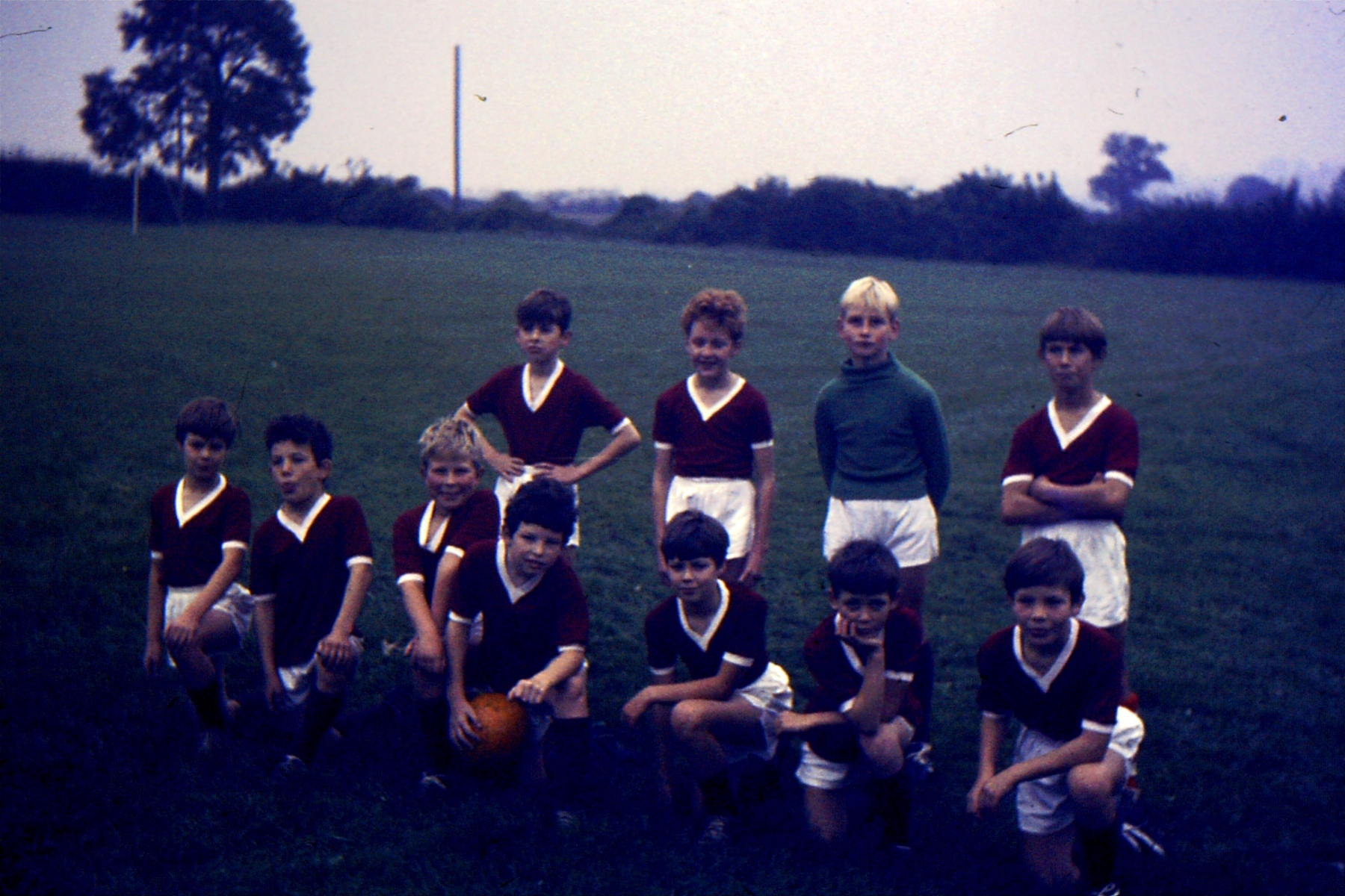 1966-69 Middle Barton School - Football team.