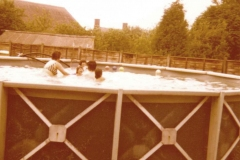 1975 Midde Barton School - Swimming Pool - Joan and Martin Cox and their children Melanie, Timothy and Stefan.