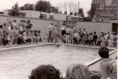 1976 First Swimming Gala and opening of the swimming pool.
