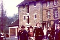 c. 1977 Stoke Bruerne Canal Museum - Danny Hazell, Tim Cox, Robert Humphries, Simon Atkinson and Nicholas Taylor.