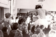 c. 1977 Christmas Party. The staff perform for the children.