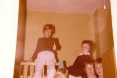 c. 1980 Barnes Close. Nicholas Taylor, ? Stillman, Gary Harrison, John Seymour and ?