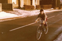 c.1980 Xmas Day. Council houses in North Street. Tim Cox.