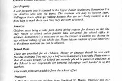 1975-79 Middle Barton School Parents' Handbook.