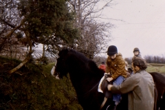 1966-69 Middle Barton School - Field trip to Yenworthy, Somerset - Pony trekking.