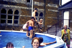 1966-69 Middle Barton School - Washington Swimming Pool donated by the Washington Family. Teacher Jo De Luc. Pool in use until the simmer of 1976.