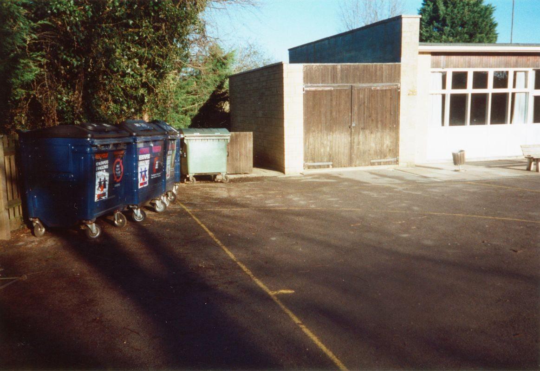 1999 Blue waste paper skips