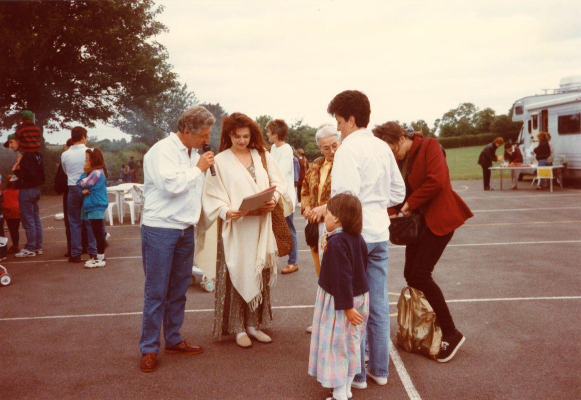 July 1996 School Summer Fayre. Emma Samms.