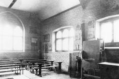 The classroom at the east end of the building.