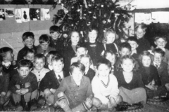 1950s Next to tree on left - David Stewart. David Eaglestone, Douglas, Desmond Houston, Christine Butler, Helen Wood, Peter Brooks?