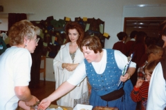 July 1996 School Summer Fayre. Rose Panting, Emma Samms and Louise Pharis.