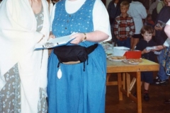 July 1996 School Summer Fayre. Emma Samms and Louise Pharis.