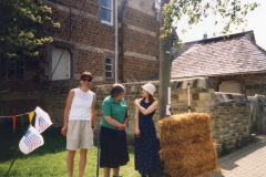 May 1998 School PTA sponsored cycle ride. Sara Kerswell, Kay Davies and Michelle Harbor.