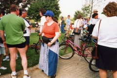 May 1998 School PTA sponsored cycle ride. Louise Pharish.