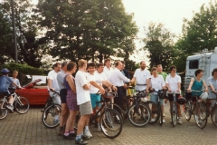 May 1998 School PTA sponsored cycle ride. Jeremy Clarkson.