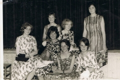 1962. Christine Savage, Middle Barton (front row, second from right) Steeple Aston Fashion Show. Pat Groves, Middle Barton, third from right sitting.