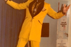 c. 1978 - The Amazing Technicolour Dreamcoat Production. Martin Cox (Headteacher) as Pharoah.  (School 2)