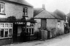 c1930 Allday's shop, 34 North Street and Three Horseshoes.