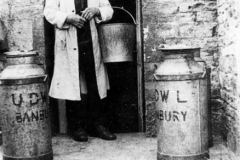 1920s ? Tom Hopes at Church Farm (then known as Goffe's farm).