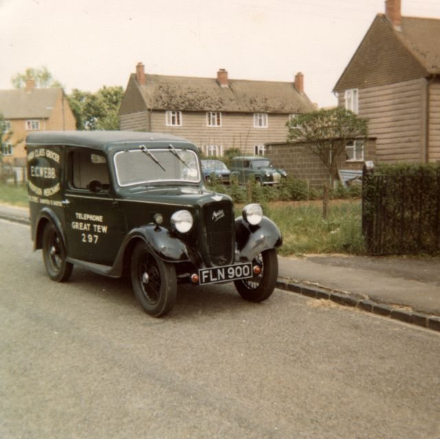 Rob Webb's van, used in the 1970's when Webb's still had the shop in Sandford.