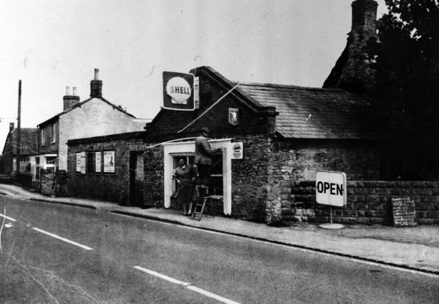 1965 Shop built in front part of the Three Horseshoes. Roy Pratley and his wife Ann.