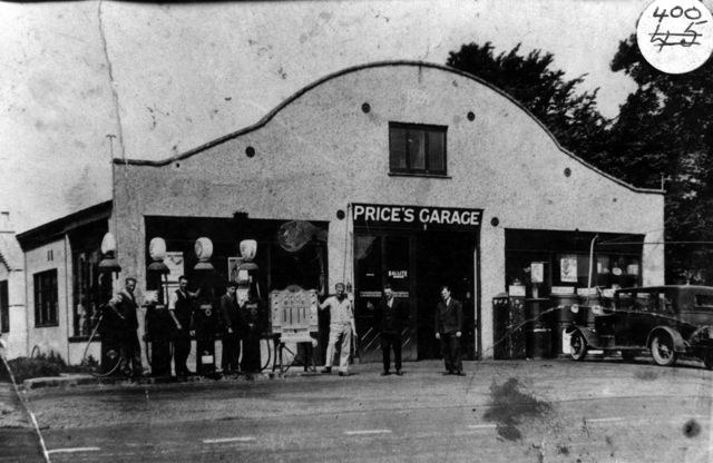 The Garage at Hopcrofts Holt 1920s - 1930s.