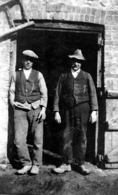 1930s Frank Hazell, James Harper at Constable Farm.