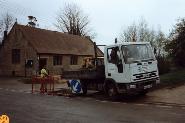 1997 Laying water pipes. Alice Marshall Hall.