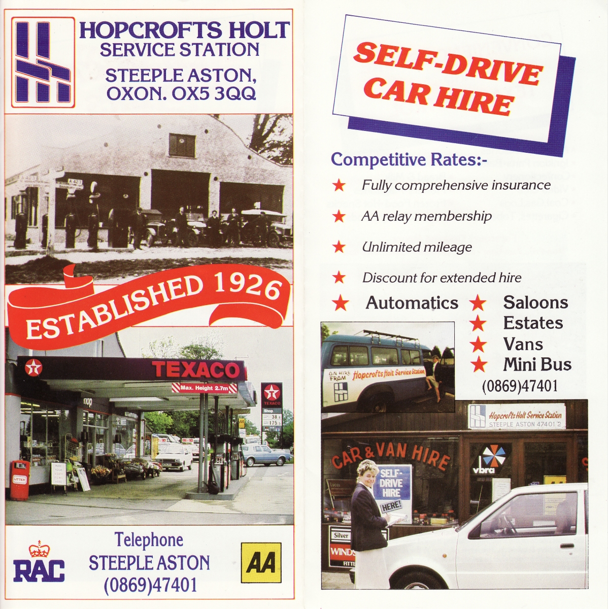 Hopcrofts Holt Service Station advertisement - 2.