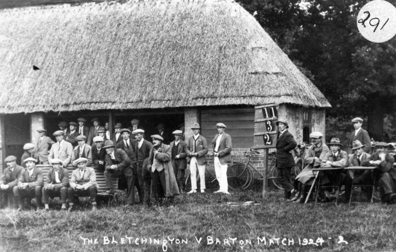 1924 The Bletchington v Barton Match.