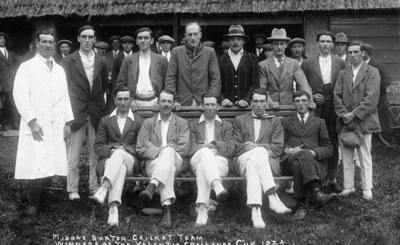 1924 Middle Barton cricket team - winners of the Valentia challenge cup.
