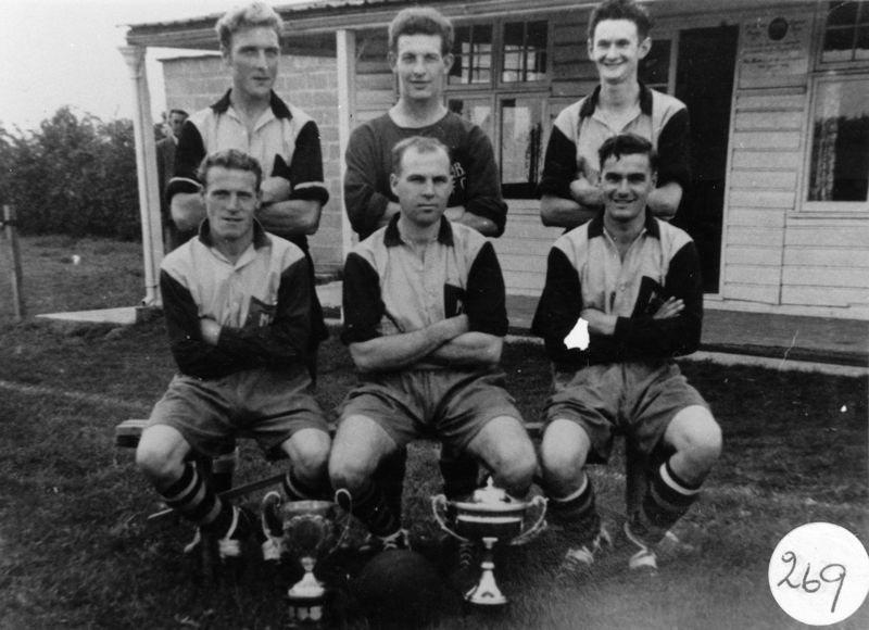 Back: John Bolton, J. Fowler, R. Gascoigne. Front: ?, Derrick Jarvis, Peter Bauckham.