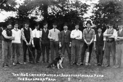 The 1845 cricket match at Sandford church fete - the Sandford team.