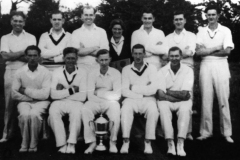 1950s Back: Jim Moulder, Ralph Mitten, Derrick Jarvis, Betty Moulder (Hughes). John Brooks, Ron Gascoigne. Front: Jack Sharp, Glyn Cox, Bill Gascoigne, George Hughes and Jack Cox.